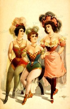 Vintage Burlesque Vaudeville Female 1899 Early 20th century Vaudeville was a live show usually consisting of song, dance, comedy and sometimes other unusual performances