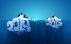 Free Wallpaper | Desktop wallpaper: Iceberg Penguins 2015 (by christiancaron54)