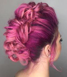 Virgin Pink Fishtail braid hawk awesomeness by @candicemarie702 & @shelleygregoryhair on the lovely @annaleebelle
