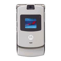 Motorola RAZR-V3 Silver Images, Motorola RAZR-V3 Silver cell phone... ❤ liked on Polyvore featuring electronics, phones, cell phones, accessories and cellphone