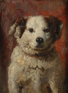 Portrait of a Spaniel Pup, attributed to Louis Eugene Lambert, French, - Brooke Astor Estate Smooth Fox Terriers, Dog Poster, Historical Art, Vintage Dog, Dog Portraits, Animal Paintings, Dog Art, Pastel, Dog Pictures