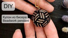 # Pendant made of beads Diy Jewelry Tutorials, Beading Tutorials, Jewelry Crafts, Jewelry Tree, Beaded Jewelry Patterns, Beading Patterns, Bracelet Patterns, Beaded Earrings, Beaded Bracelets