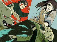 Team 8 Hinata Hyuga, Kiba Inuzuka and Shino Aburame Naruto Uzumaki, Gaara, Naruhina, Anime Naruto, Hinata Hyuga, Naruto Art, Anime Manga, Sasuke, Naruto Gaiden