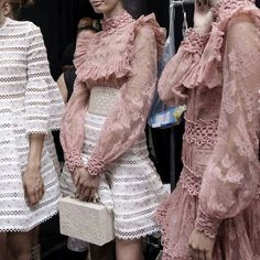 Backstage at Zimmermann Spring/Summer 2016.