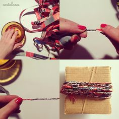 Photo-tutorial to create the earrings in recycled paper (Cartalana - Marcella Stilo) - Hobbydonna. Paper Bracelet, Paper Jewelry, Fabric Beads, Paper Beads, Recycled Plastic Bags, Newspaper Crafts, Crafts To Make And Sell, Quilling Art, African Jewelry