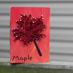 Capture the season with this autumnal twist on yarn and nail art. This fun project helps little ones work on their fine motor skills, while creating a beautiful piece for your seasonal (or anytime!) home decor, nature table or quiet box.