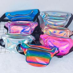 Cute Fanny Pack, Holographic Bag, Waist Purse, Wholesale Bags, Waist Pack, Girls Bags, Cute Bags, Purses And Bags, Material