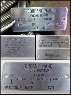 Brass tags, available blank or custom stamped. | Industrial ...
