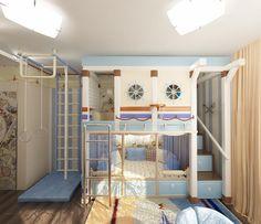 Navy bedroom for kids