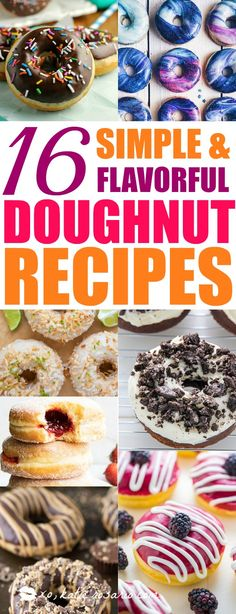 Who doesn't love donuts! Omg! I love having so many great recipes that are easy to make at home! These easy homemade donuts look so good! I love that they are cakey donuts, baked, donuts, and fried donuts included on this post. There is also recipes for all the glazing, icings and fillings. I can't wait to make all of them! Saving for later!