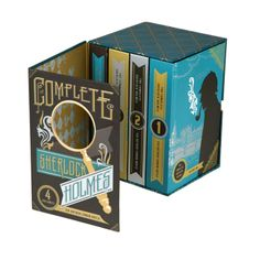 The Complete Sherlock Holmes (design by The Book Designers, illustration by Jacqui Oakley)