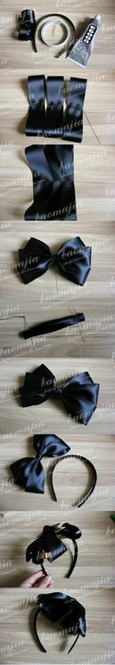 new Ideas hair accessories diy how to make bow tutorial Diy Bow, Diy Ribbon, Ribbon Hair, Ribbon Crafts, Ribbon Bows, Ribbons, Making Hair Bows, Diy Hair Bows, Hair Bow Tutorial