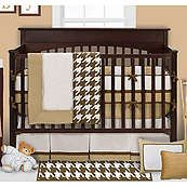 Bacati Metro Khaki Modern Neutral 4 Piece Crib Set