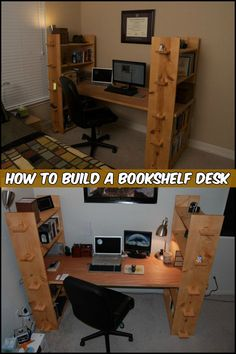 Short on Space and Can't Have a Bookcase and Desk in Your Room? Why Not Combine The Two
