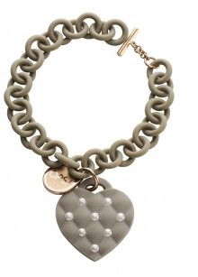 Ops! Objects náramek Matelassé Pearl šedý s růžovými perlami - 923 Kč