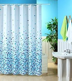 From 6.99 Mosaic Patterned Polyester 180 X 180cm Shower Curtain