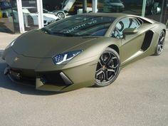 Lamborghini Aventador army green