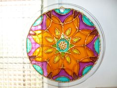 "Mandala ""Plenitud"", vidrio 20cm"