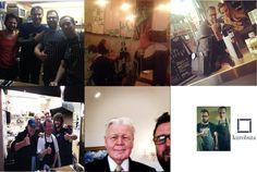 Friends of Kurobuta London. Blink 182's Mark Hoppus, Adele, Made in Chelsea's Victoria Baker-Harber, AC/DC's Brian Johnson, and Icelandic President, Ólafur Ragnar Grímsson with Kurobuta's Scott Hallsworth  #ACDC, #Adele, #Blink182, #MarkHoppus, #Ólafur Ragnar Grímsson, #MIC, #VictoriaBakerHarber