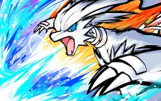 Commission for Paul. Reshiram using Blue Flare, its strongest attack! He had the great idea to contrast blue and red fire in this. And it turned out awesome! I decided to go all out with...