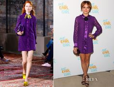 Olivia Cooke In Gucci - 'Me and Earl and the Dying Girl' London Premiere