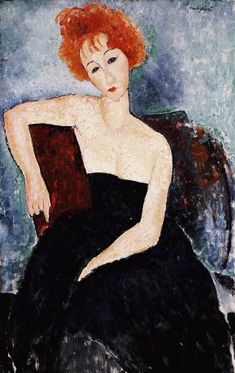 Young Redhead in an Evening Dress -Amedeo Modigliani