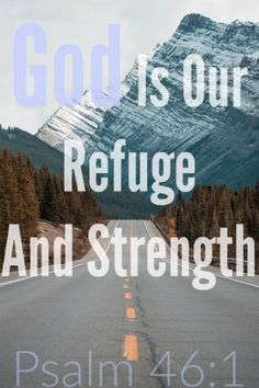 Bible verses about God being our refuge Whenever you're in trouble or feel alone run to the Lord for help because He will never forsake you. Bible Verses Quotes, Scripture Images, Scripture Verses, Bible Scriptures, Psalm 46, Christian Devotions, Gods Plan, Persecution, God Jesus