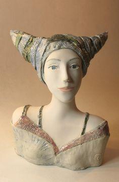 Ceramic Sculpture , A Woman's Bust , Handmade Sculpture by ImagoArtDesign Face Anatomy, Air Fire, Sculpture Art, Pottery, Statue, Fine Art, Creative, Artist, Handmade