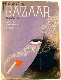 harper's bazaar magazine, october 1936. illustration by erte.