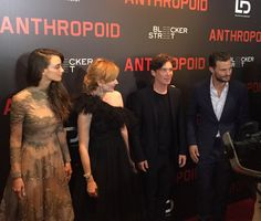 The stars of ‪#‎Anthropoid‬ walk the red carpet at the New York premiere. ‪#‎JamieDornan‬ ‪#‎CillianMurphy‬ ‪#‎AnaGeislerova‬ ‪#‎CharlotteLeBon‬
