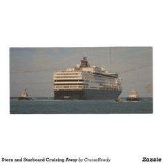 Stern and Starboard Cruising Away Wood Flash Drive
