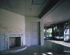 my favorite porch - O'Neil Ford Designed Early Texas Modern Significant Home