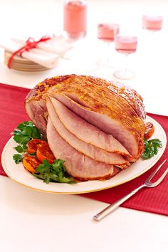 Ham with Marmalade Bourbon Glaze. A spiral cut ham gets a brushed-on bourbon glaze with Safeway SELECT Marmalade just before it's finished roasting. A picture perfect holiday main dish!  |  Safeway