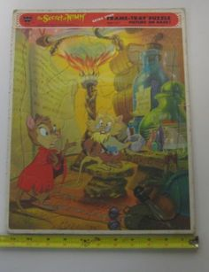 The-Secret-Of-The-Nimh-Mrs-Bisby-Frame-Tray-Puzzle-Vintage-1982-4557A-Ages-3-7