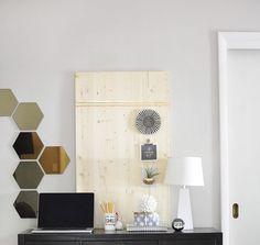 How to create a Rental Friendly Wood Memo Board
