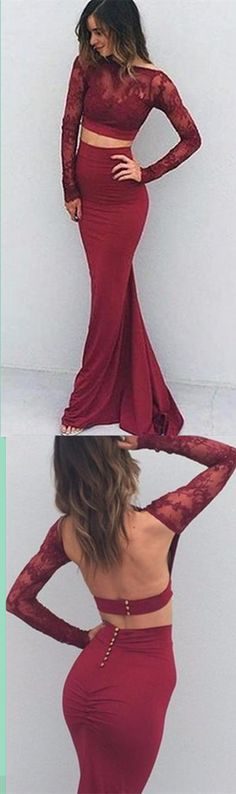 Two Pieces Backless Charming Prom Dress,Long Prom Dresses,Charming Prom Dresses,Evening Dress, Prom Gowns, Formal Women Dress,prom dress