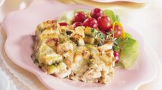 Pillsbury® refrigerated pie crust provides a simple addition to a gourmet shrimp quiche. Enjoy this cheesy herbed pie - a baked delight!