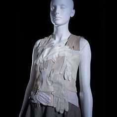 Top made of driving gloves - MAISON MARTIN MARGIELA recycled from Popgloss - a daily womens shopping magazine with the latest and best designed womens clothing, boots, bags, jewelry accessories and makeup