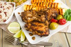 Thinking about Jamaica for your next getaway? Here's the delicious food you can expect to try, plus a Jamaican jerk chicken recipe for you to try at home. Jerk Chicken, Lime Chicken, Grilled Chicken, Tandoori Chicken, Barbecued Chicken, Cilantro Chicken, Chicken Life, Marinated Chicken, Chicken