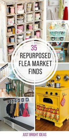 Flea Market Finds that Will Make Your Home Look Fabulous So many amazing ways to upcycle flea market finds - thanks for sharing!So many amazing ways to upcycle flea market finds - thanks for sharing! Thrift Store Furniture, Thrift Store Crafts, Refurbished Furniture, Repurposed Furniture, Furniture Makeover, Diy Furniture, Thrift Stores, Furniture Refinishing, Chair Makeover