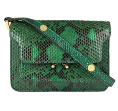 MARNI Mini Trunk python-leather shoulder bag $2,065.00 at SELFRIDGES.COM