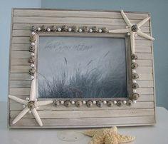 Diy seashell frame craftsames for keepsakes from a holiday or beach frame solutioingenieria Gallery