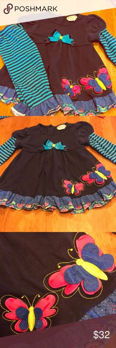 Rare too Girls 24m matching set Rare too Girls 24m matching set. Butterfly accent with ruffles- truly a one of a kind! gently used Rare too Matching Sets