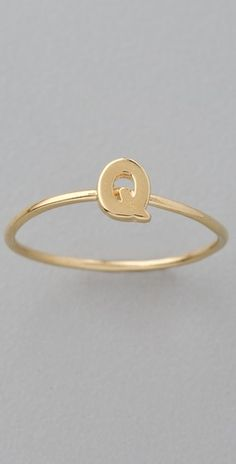 """Alphabet Letter Initial Waif Ring- With a """"J"""" or a """"S"""" of course :)"""
