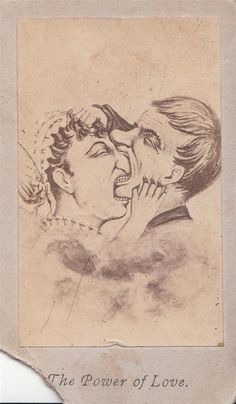 """The Power of Love"". Vintage cabinet card illustration."