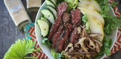 Asian Steak and Pear Salad sounds like a fair bit of work but potentially worth it