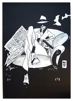 Torpedo, - Art by Jordi Bernet. Character Art, Character Design, Bd Art, Jordi Bernet, Tachisme, Bd Comics, Art Et Illustration, Art Graphique, Pulp Art