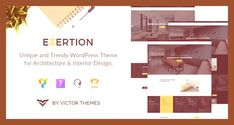 #architect #architecture #bootstrap #building #business #construction #creative #decor #decoration #design #envato #free nulled theme #furniture #home #html5 #interior #portfolio #property #showcase #site templates #theme forest #wordpress free #wordpress templates #wordpress theme Click For Demo & Download Fully Compatible with:  WordPress 5.3.x WPBakery Page Builder 6.1.x   Exertion is a perfect front line theme for presenting your architecture and interior design website with a delight...
