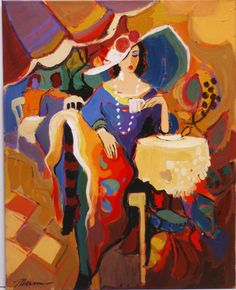 Isaac Maimon Original Acrylic on Canvas Signed - B - by Windsor Auction House Inc.