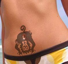 Belly Button Monkey Tattoo